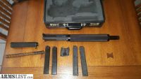 For Sale: 9mm AR15/AR9 - Flat top upper, quick take off barrel, faux suppressor, Glock mags, with case