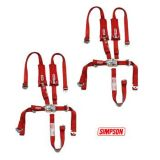 Purchase 2 Polaris RZR XP Simpson 5 Pnt H Harness Seat Belts Latch & Link 2x2 w/ Pads Red motorcycle in Buena Park, California, US, for US $234.99