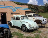 One owner, original paint, Bahama blue sedan