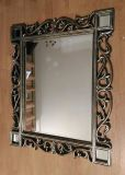 Antique-Style Burnished Gold Vines Wall Mirror in Wood Frame 37x31