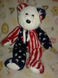 Large Ty Patriotic Bear