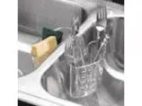 InterDesign Kitchen Sink Protector Flatware Organizer and Sponge