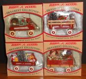 Set of 4 Radio Flyer 1997 Ornament Collection Models 101-104