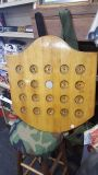Wooden Coin holder with 1922 Peace dollar