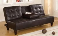 BRAND NEW! LEATHER URBAN CUPHOLDER SOFA BED FUTON SLEEPER