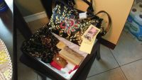 New Patricia Nash Embroidered Leather Satchel w/ Matching Scarf
