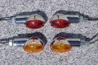 Buy Set of Four Chrome/Amber MOTORCYCLE TURN SIGNALS motorcycle in Laguna Hills, California, US, for US $14.98