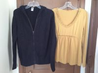 Gap hooded sweater and mustard shirt. Both are size large and in great condition!