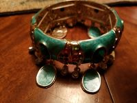 New bracelet teal with gold trim new
