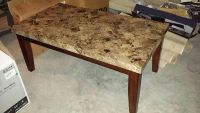 $475, Coffee and side tables Marble top