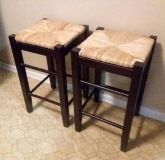(2) WOODEN STOOLS......EXCELLENT CONDITION