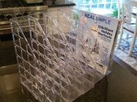Magazile File Holder - Clear Plastic - Like New Condition