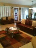 $600, contemporary leather sofa and love seat for sale