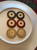 Rare vintage clay inlaid poker chips