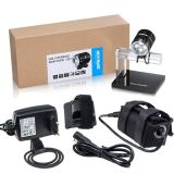 1600 Lumens Bike Light - Cree LED Bike Lights - Headlight Bundle with 5200mAh Rechargeable Battery Pack, AC Charger