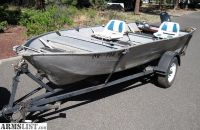 For Sale: Smokercraft 16' Fishing Boat with Trailer 18HP Mercury Motor, Extras