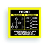 Sell TRANSMISSION SHIFT PATTERN decal fits willys cj jeep SM420 DANA 20 AR017 motorcycle in Mentor, Ohio, United States, for US $9.98