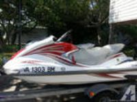 Two 2007 yamaha jet ski and trailer