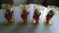 4 Blown Glass Candy Cane Ornaments