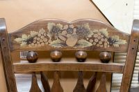 Wooden Floral Chair