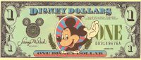 "Collectors Rare 1988 $1 ""D"" Mickey Mouse DISNEY Dollar- Uncirculated, MINT"
