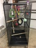 Large Bird Cage / toys / bed