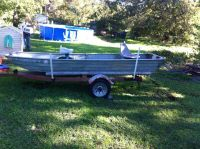 12 foot Jon boat and trailer