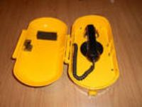 Northern Telecom Yellow Weatherproof Phone and Enc