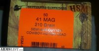 For Sale: HSM 210gr 41 Magnum (1) New Factory 50 round Box