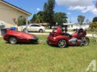 2008 Goldwing Trike and Trailer, Red