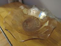 Fluted Golden Carnival Glass Bowl~Reduced
