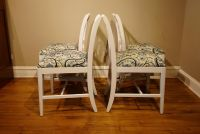 Vintage Set of Four Chairs in new upholstery