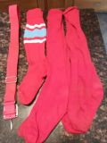 3 pairs of men's baseball socks(red) and red adjustable belt