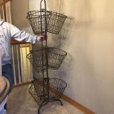 NEW!!! Purchased $275 at NFM heavy metal storage with removable handled baskets- PRICE FIRM and cross posting on Cragslist price won t drop