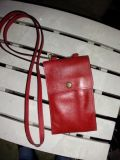 Red leather purse/ wallet