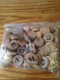 Round wooden letters