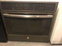 GE Black stainless single oven electric