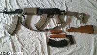 For Sale: WASR-10 semi auto AK 47 Variant in 7.62x39 w/ additional Galil style FDE folding stock set, extra mags & ammo