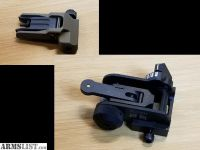 For Sale: Knight's Armament Company M4 Front Sight (Taupe) & MaTech Rear