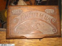 """For Sale/Trade: Trench art Ukrainian Ciggarette box. Text says """"Vinnytsia,"""" a city in Ukraine. Dated 1942 and 1943."""