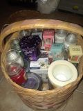 Basket of NEW Holiday Time Scented Candles