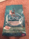Purina One dry cat food - sensitive stomach - 56 oz