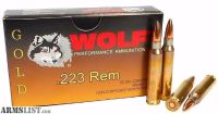 For Sale: Wolf Gold .223 55gr