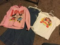 Girls High School Musical pants and shirt and Mickey/Minnie Hoodie