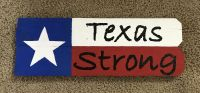 Texas Strong Wood Sign