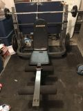 PowerZone weight bench and weights