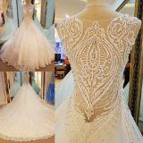 Mila's Elegant Princess Style Lace Wedding Dress No Train