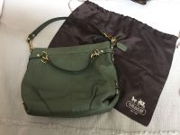 EUC Coach pebbled leather handbag with dust cover. Excellent shape. Thick leather. Approx 13x11 . Retail $400. $70