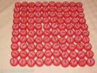 100 Lot Clean Coke Cola Red Bottle Caps Lids Recycled Art