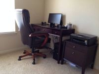 Computer desk with matching file cabinet